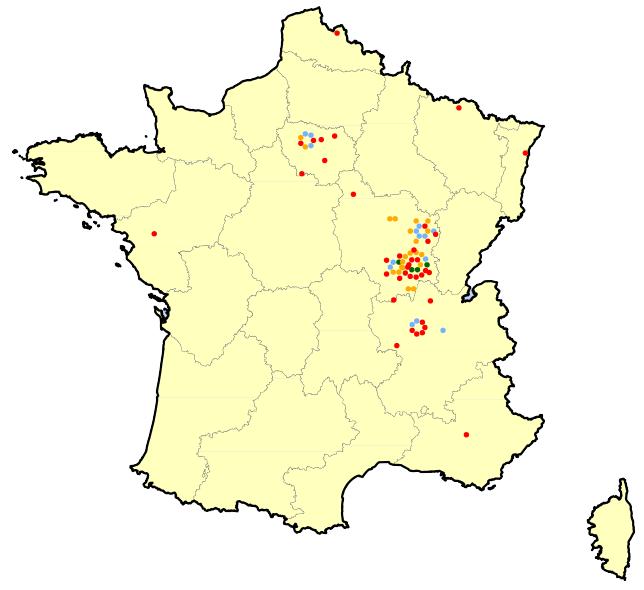 Localisation des adhérents